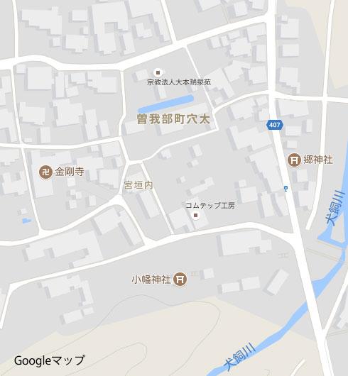 穴太の拡大地図