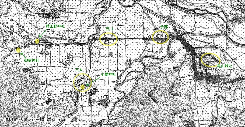 明治時代の亀岡の地図1