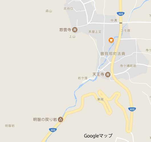 法貴谷の地図
