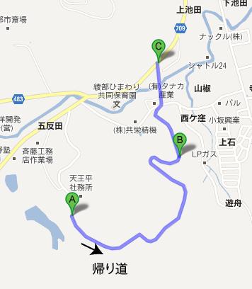 奥都城への地図