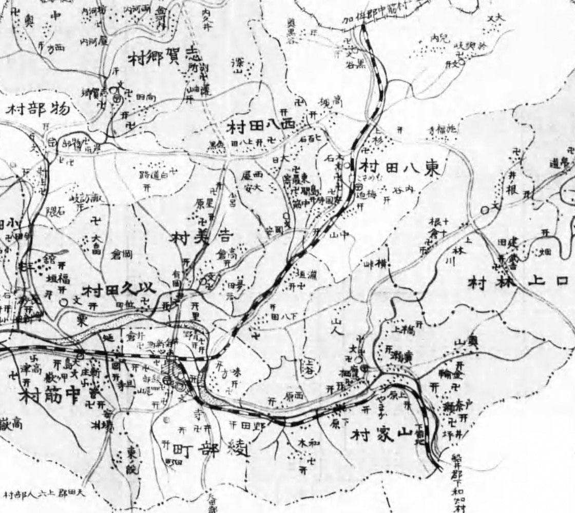 綾部近辺の地図(大正時代)