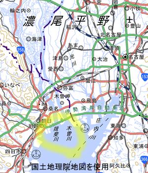 木曽川と揖斐川